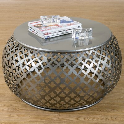 Hallie Coffee Table Color: Silver