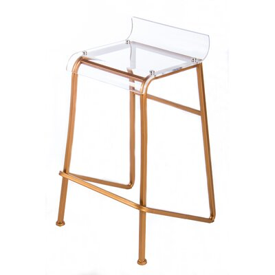 Acrylic Counter Stool Finish: Gold