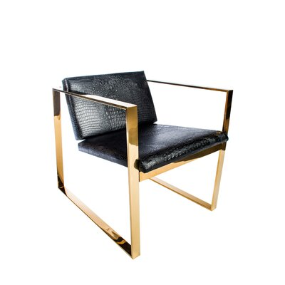 Phillippe Gold Lounge Chair