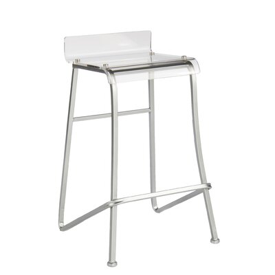 Acrylic Counter Stool Finish: Silver