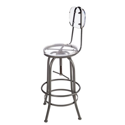 Zaine Adjustable Height Swivel Bar Stool