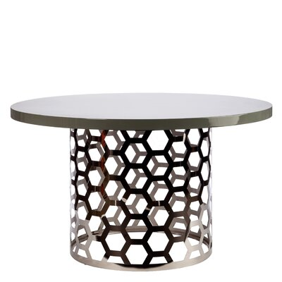 Laguna Dining Table Color: Silver/Gray