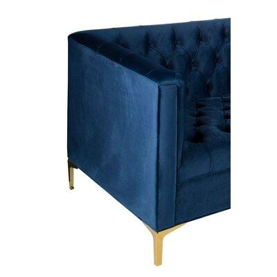 Kazmierski Chesterfield Sofa Upholstery: Navy