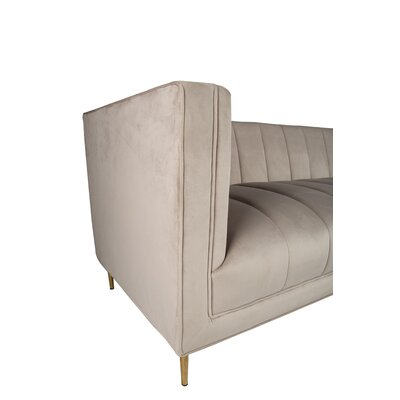 Delfausse Sofa Upholstery: Gray