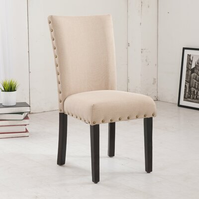 Classic Parsons Chair Upholstery: Creamy Beige