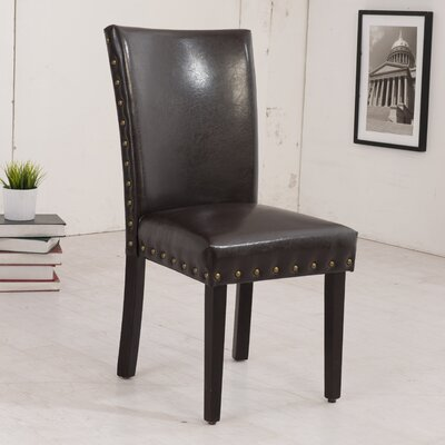 Classic Parsons Chair Upholstery: Dark Brown