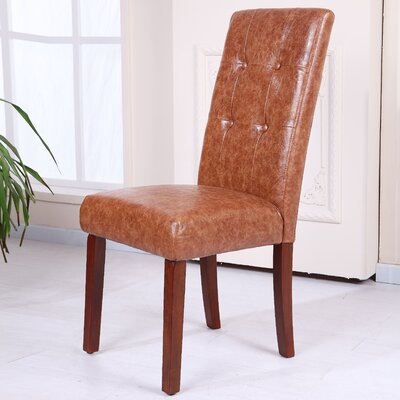 Classic Side Chair Upholstery: Saddle Brown