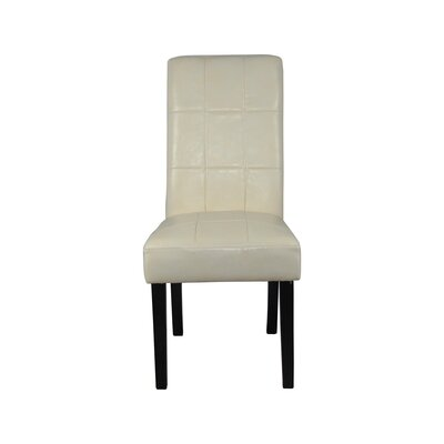 Castillian Parsons Chair Upholstery: Creamy White