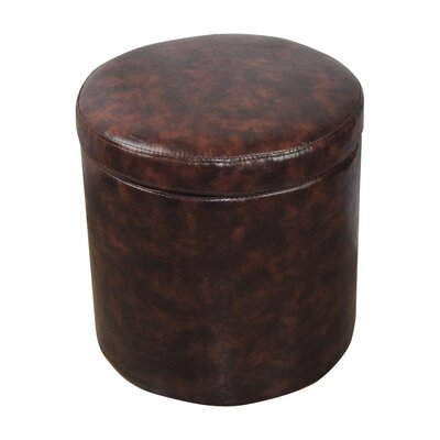 Castillian Storage Leather Ottoman Upholstery: Espresso