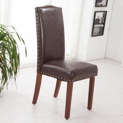Castilian Parsons Chair Upholstery: Espresso