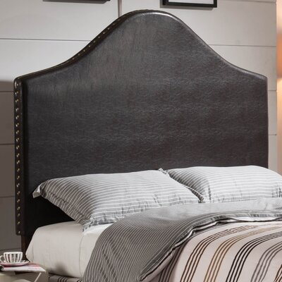 Luxury Queen Upholstered Panel Headboard Upholstery: Brown