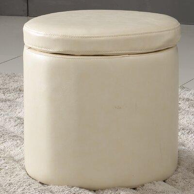 Castillian Storage Ottoman Upholstery: Creamy White