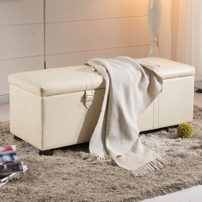 Castillian Upholstered Storage Bedroom Bench Color: Creamy White