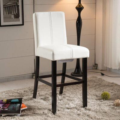 Luxury 24 Bar Stool Upholstery: Creamy White