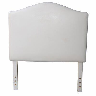 Classic Twin Upholstered Panel Headboard Upholstery: Creamy White