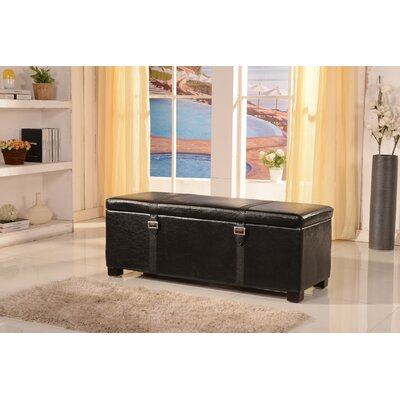NOYA USA Classic Storage Bedroom Bench - Color: Black
