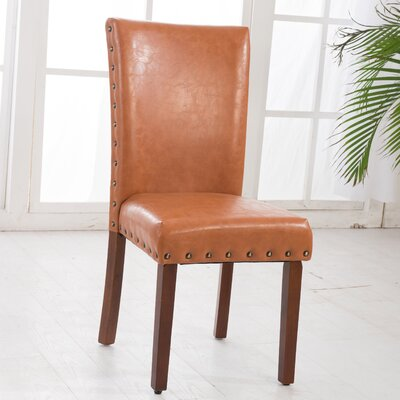 Parsons Chair Upholstery: Tan