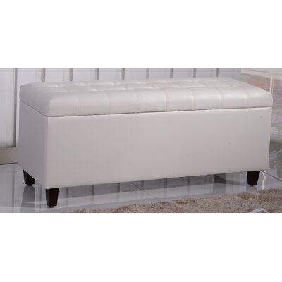 Classic Storage Bedroom Bench Color: White