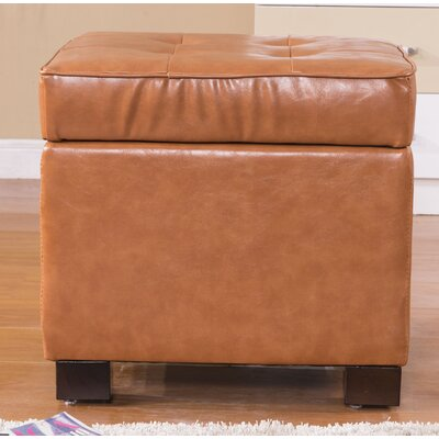 Classic Storage Ottoman Upholstery: Saddle Brown