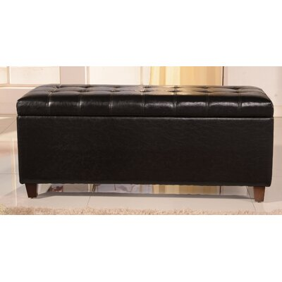 Classic Storage Bedroom Bench Color: Saddle Brown
