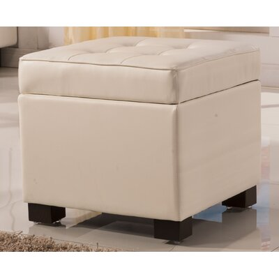 Classic Storage Ottoman Upholstery: Beige