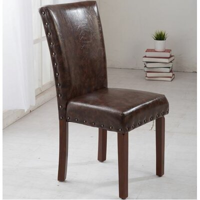 Parsons Chair Upholstery: Brown