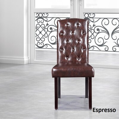 Parsons Chair Upholstery: Espresso