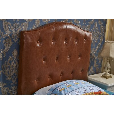 Upholstered Panel Headboard Upholstery: Brown