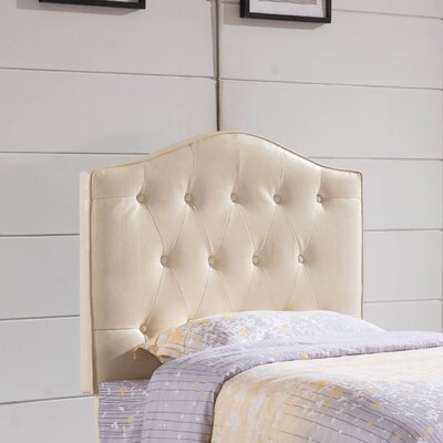 Upholstered Panel Headboard Upholstery: Creamy White