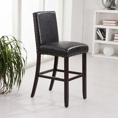 Luxury 24 Bar Stool Upholstery: Dark Brown