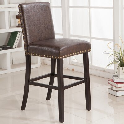 Luxury 24 Bar Stool Upholstery: Espresso