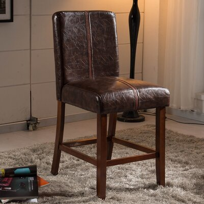 Luxury 24 inch Bar Stool Upholstery: Espresso