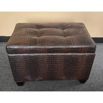 Classic Crocodile Storage Ottoman Upholstery: Brown