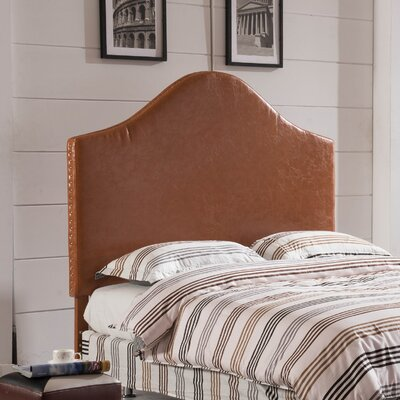 Luxury Queen Upholstered Panel Headboard Upholstery: Tan Brown