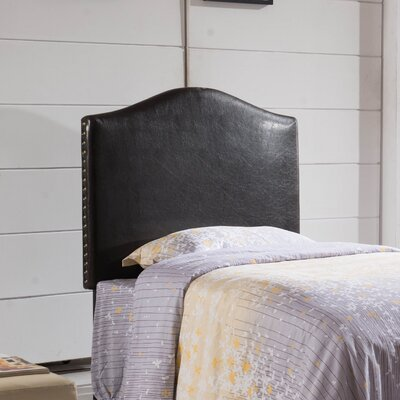 Classic Twin Upholstered Panel Headboard Upholstery: Brown