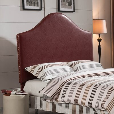 Luxury Queen Upholstered Panel Headboard Upholstery: Dark Red