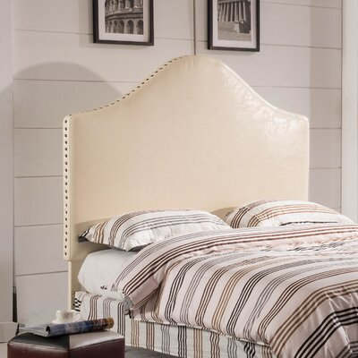 Luxury Queen Upholstered Panel Headboard Upholstery: Creamy White