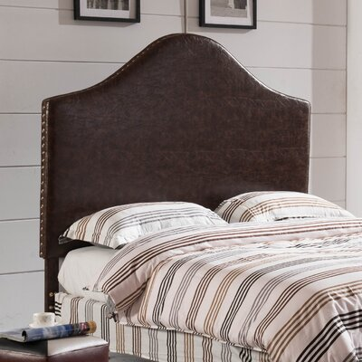Luxury Queen Upholstered Panel Headboard Upholstery: Espresso