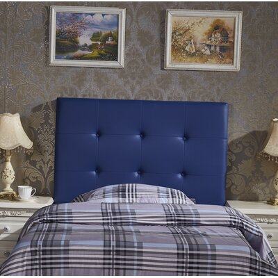 Kids Twin Upholstered Headboard Upholstery: Blue