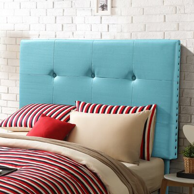 Kids Twin Upholstered Headboard Upholstery: Aruba Blue