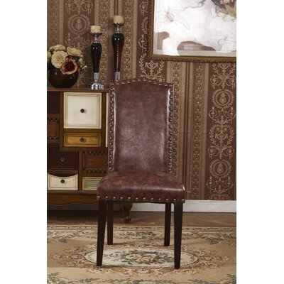 Elegant Parsons Chair Color: Saddle Brown