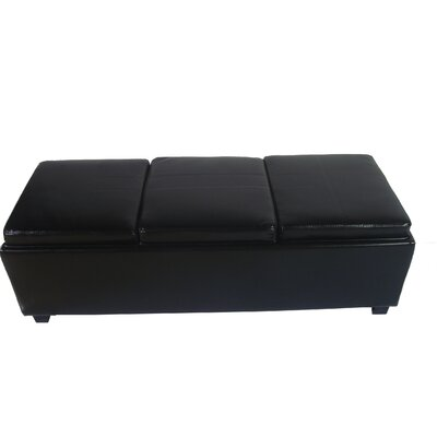 NOYA USA Contemporary Leather Storage Entryway Bench - Color: Black at Sears.com