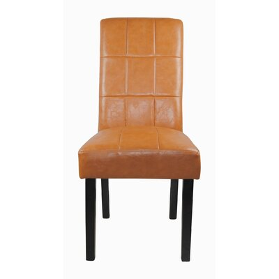 Castillian Parsons Chair Upholstery: Tan Brown