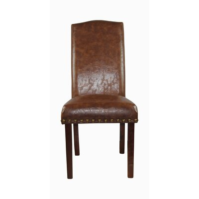 Castilian Upholstered Dining Chair Upholstery: Tan Brown