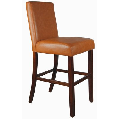 Luxury 29 Bar Stool Upholstery: Orange