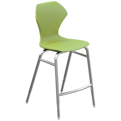 Apex Series Barstool Color: Green Apple, Frame Finish: Chrome