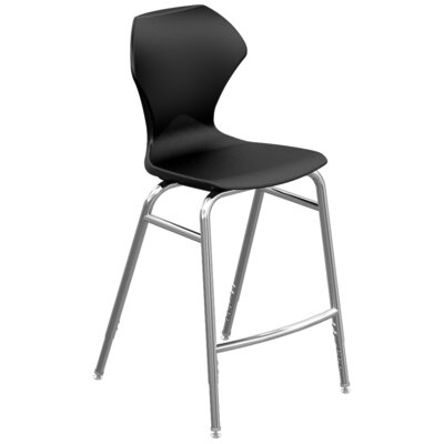 Apex Series Barstool Color: Black, Frame Color: Chrome