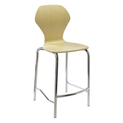 Apex Series Bar Stool Upholstery: Chrome, Upholstery: Mocha