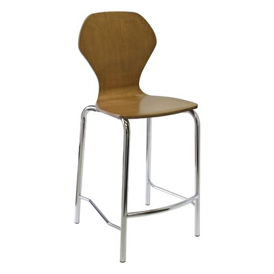 Apex Series Bar Stool Upholstery: Chrome, Upholstery: Natural