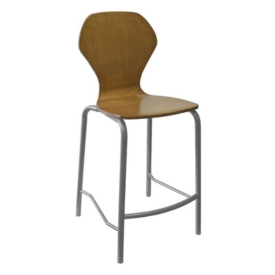 Apex Series Bar Stool Finish: Gray Powdercoat, Upholstery: Mocha